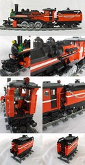 "The ""Reindeer Express"" Composite #2 (ted @ndes) Tags: train toy lego engine steam locomotive tender afol greeble bbbwheels"