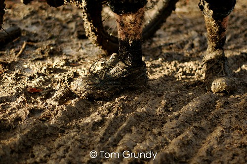 Mud after the first run..