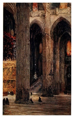 014-En la catedral de Sevilla-Cathedral cities of Spain 1909- W.W Collins