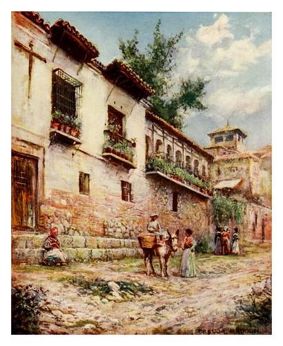 043-Granada-La Cuesta del Pescado-Southern Spain 1908- Trevor Haddon