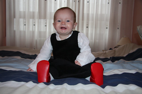 Black Dress, Red Shoes