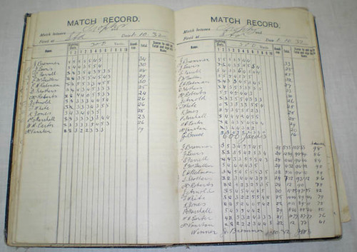 Stratford Rifle Club Score Book