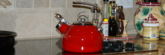 The kitchen (Thomas Elijah Herington) Tags: red tea kettle