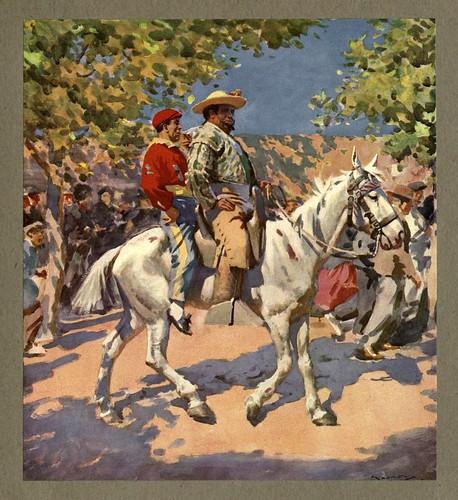 005- En camino a la corrida de toros-An artista in Spain 1914- Michael Arthur C.