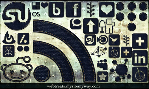 108 High Resolution Dark Denim Social Media Icons