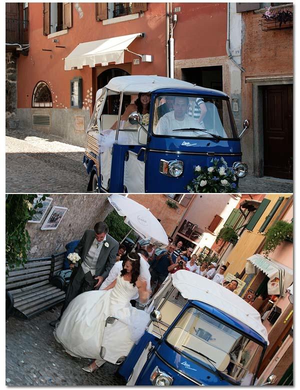 Ape Car Wedding in Italy