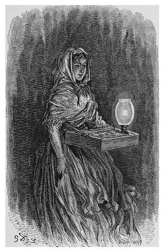 060-Vendedora de cerillas en las calles de Madrid-Spain (1881)- Doré Gustave