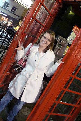 Playing in the phone booth, MommaDJane, Travel, London, England