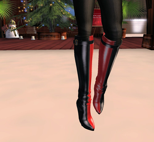 50L Weekend Fever R2 Fashions red and black boots