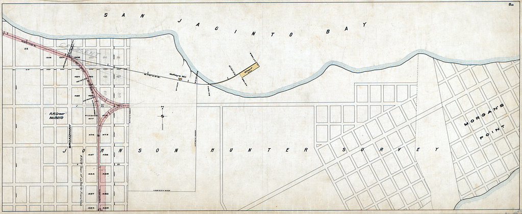 Harris County - GH&N Railway (Now GH&SA Railroad), Sheet 8A