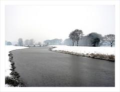 Snow in Drunen . (Franc Le Blanc .) Tags: bridge winter snow lumix panasonic drunen dmcfz18 afwateringskanaal treesreed