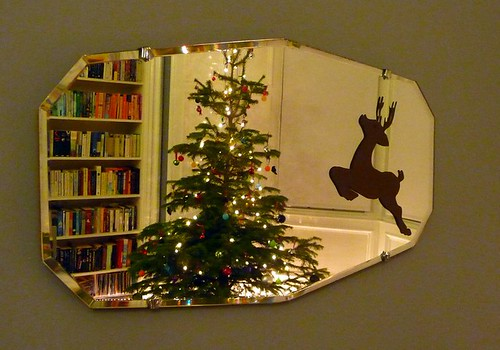 Xmas deer mirror