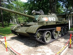 Tank 843 in Siagon in the palace grounds (D70) Tags: tank palace vietnam made russian saigon grounds siagon t54 843 russianmade