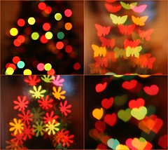 Bokeh or Not ? (Richard Cowdrey) Tags: christmas blue red orange blur tree yellow canon eos lights colours dof bokeh christmastree depthoffield fairylights 400d bokehoftheday richardcowdrey