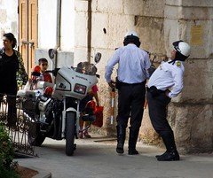 Police officers Damascus old town