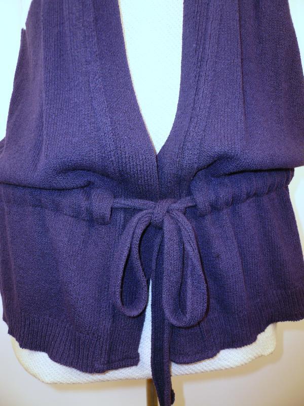 detail knit vest