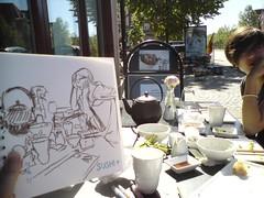 sketching at sushi+