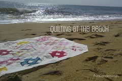 Quilting at the Beach (KMQuilts) Tags: ocean modern quilting patchwork modernquilting avalanden