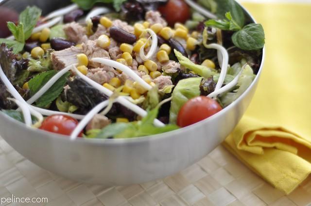 Meksika Fasulyeli Ton Balığı Salatası
