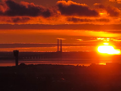 Oresund Bridge at Sunrise October 26th 2016 #2 (JDurston2009) Tags: copenhagen orestad oresundbridge dawn denmark sunrise