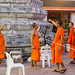 Buddha monks working in Wat Pho Temple in Bangkok
