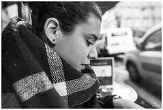 Dépayser (Dani Carmona) Tags: girl portrait bw paris france montmartre belle beautiful