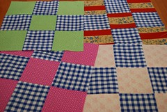 Bianca (BeckyEtal) Tags: sewing quilting 9patch blockswap chaletgirl