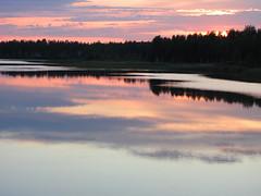Summer night (Vaeltaja) Tags: pink sunset summer lake reflection nature water june night suomi finland landscape scenery view oulu maisema vesi kes luonto y auringonlasku heijastus keskuu kuivasjrvi mywinners vaaleanpunainen platinumphoto ultimateshot theunforgettablepictures vanagram