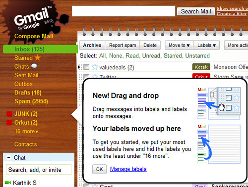 GMail Drag and Drop labels