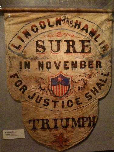Lincoln and Hamlin campaign sign
