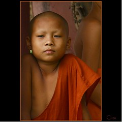 MONK PORTRAIT (cisco image ) Tags: portrait orange monk cisco laos ritratto luangprabang photographia fivestarsgallery artofimages photographia bestportraitsaoi elitegalleryaoi