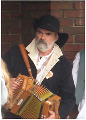 Accordian Player (Kitty W) Tags: musician costume accordian morrismen accordianplayer
