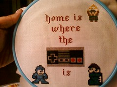 link added but too small (Chickpea981) Tags: kirby crossstitch nintendo mario gift link zelda nes megaman 80skid oldschoolnes nintendocrossstitch