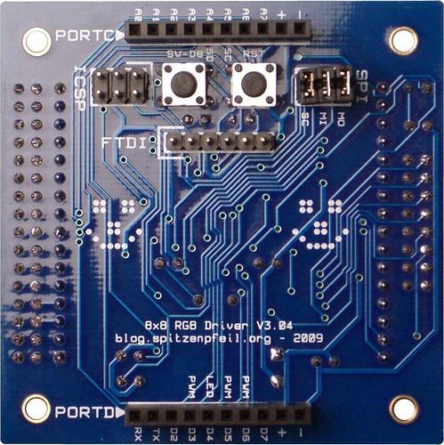 RGB Matrix V3.04 - assembled back side