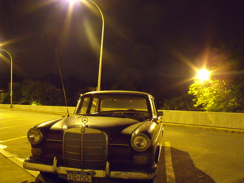 Nighttime Mercedes