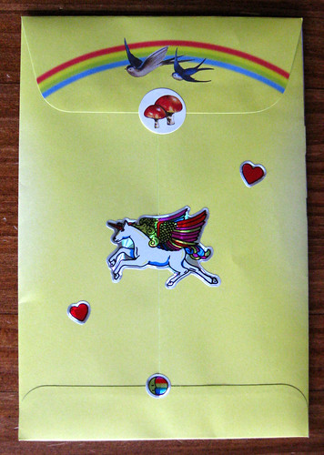 Unicorn Wishes envelope