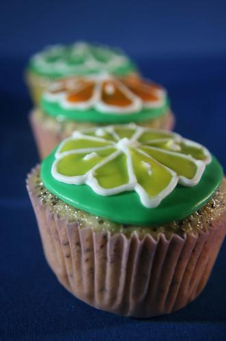 Citrus poppy seed cupcakes
