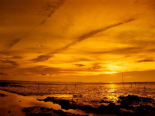 璇璇用FinePix F100fd內建的夕陽模式拍的