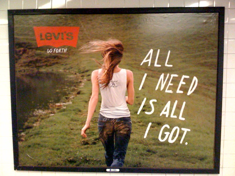 Levi's ad with McCain-Palin t-shirt