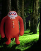 Argewabli the Hairiest Couchie (meezi) Tags: monster forest toy scary handmade plush softie plushie creature bigfoot yeti sasquatch hairiest couchie