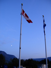 DSCN0162 (falcon170ct) Tags: blue moon canada quebec flags gaspe gaspepeninsula montstpierre