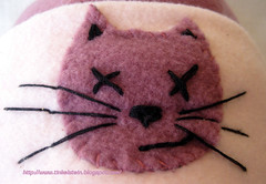 Fleece hat applique