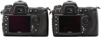 D300S vs D300 rear grip area