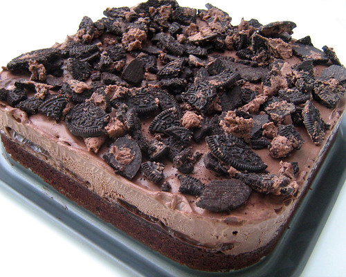 homemade chocolate ice cream cake