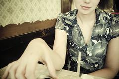 brunch. patterns. (Erin Drewitz) Tags: light woman chicago color 20d canon vintage patterns utata brunch bridgeport healthyfood lithuanianfood erindrewitzcom wwwerindrewitzcom