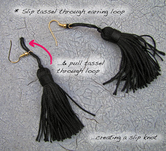 2-Step1-Chain-Tassel-Earrings
