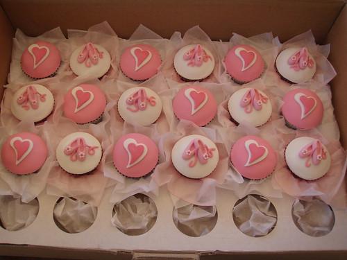 Mossy's Masterpiece Emily's ballet Ballerina cupcakes