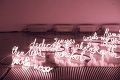 Light words (jblacombe) Tags: uk pink light england london sol rose festival electric wall thames museum modern river grid typography words soft neon glow photographer floor tate tube retro reflet reflect wires londres angleterre glowing wants brille typo mots boxe mot ecriture douceur dedicate electrique