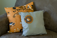 RVA (silje/vanilje) Tags: orange ikea handmade interior room crafts pillows fabric tutorial upholstery microsuede redvelvetart