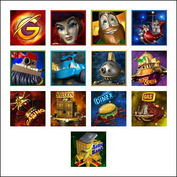 free The Great Galaxy Grab slot game symbols